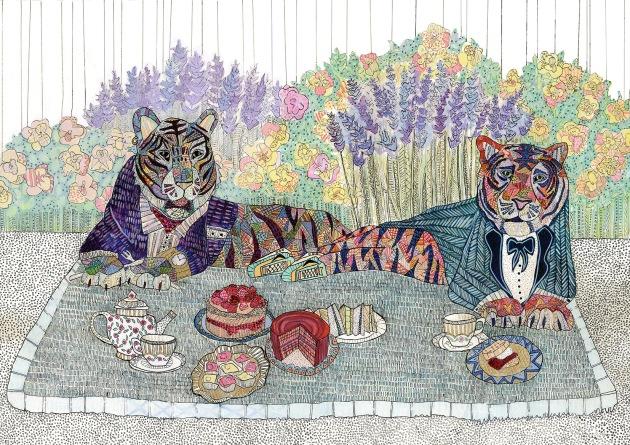 картинка тигр и чай